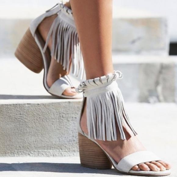 edd59903702b New in Box Matiko Morgan Fringe Suede Sandals